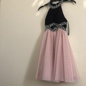 mini pink prom formal dress